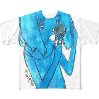 キャンディサマーガール Full graphic T-shirts