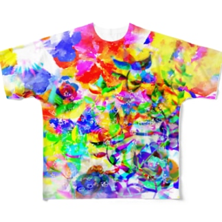カラフルだねえ Full graphic T-shirts