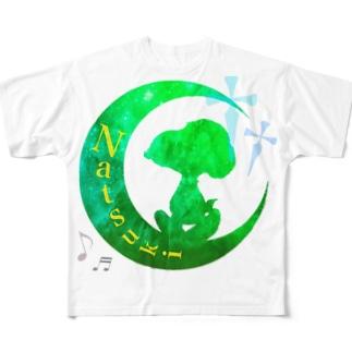 お月様    Ver.らべさん Full graphic T-shirts