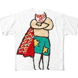 すてきなマントのレスラー フルグラフィックTシャツ