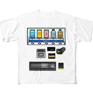 つめた〜い 自動販売機 Full graphic T-shirts