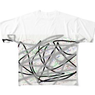 half-printed bigT Full graphic T-shirts