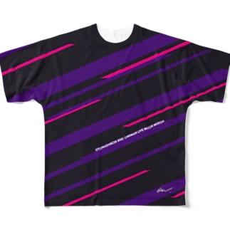 六音無双 フルグラフィックTシャツ黒 Full graphic T-shirts