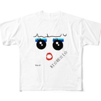 おめかし(きれいバージョン) Full graphic T-shirts
