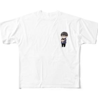 キシタク店長とだし汁娘 Full graphic T-shirts