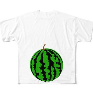 マタニティフォト すいか(スイカ) Full graphic T-shirts