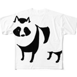 たぬき Full graphic T-shirts