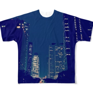 Shinjyuku-blue (park ver.) Full graphic T-shirts