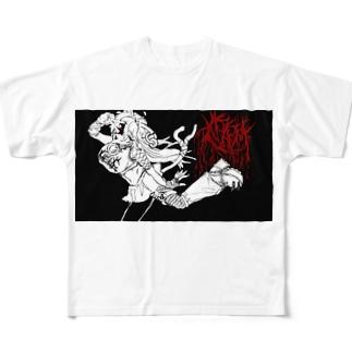 💤負け犬インターネット💤のCATS Full graphic T-shirts