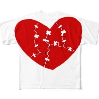 修復されたハート'-210614 Full graphic T-shirts