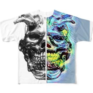オーガ/QR emotion half Tシャツ Full graphic T-shirts