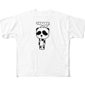 立ち止まりパンダ(ソロ) Full graphic T-shirts
