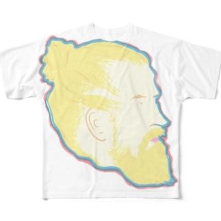 髭面T Full graphic T-shirts