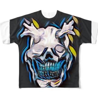 オーガ/QR emotion Tシャツ Full graphic T-shirts