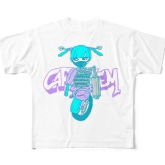 バイクガール Full graphic T-shirts