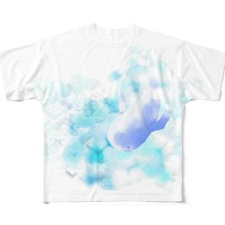空飛ぶ鯨 Full Graphic T-Shirt