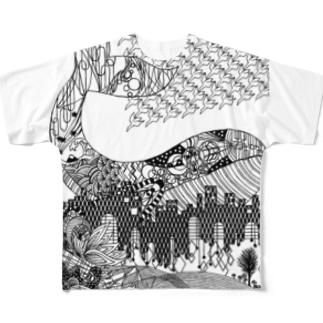 切り絵・ゴールデンスランバー フルグラフィックTシャツ