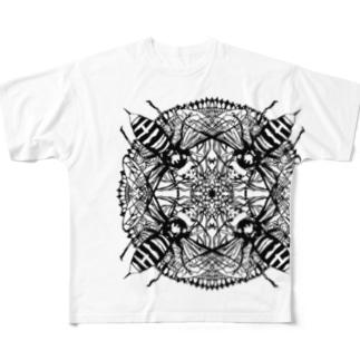 蜂曼荼羅 Full graphic T-shirts