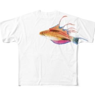 クジャクベラ Full graphic T-shirts
