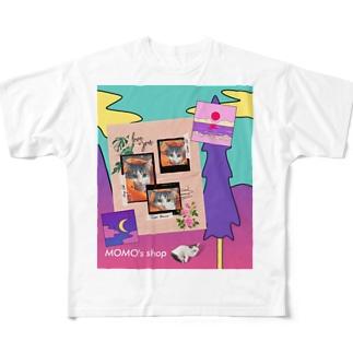 MOMOのレトロなデザイン #02 Full graphic T-shirts
