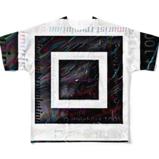 テキスト2021 融合モノクロ Full graphic T-shirts