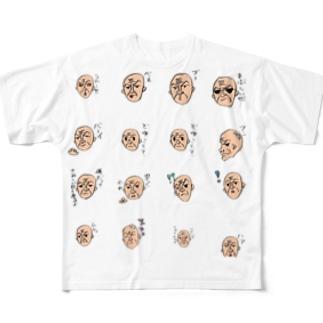 ハゲオヤジ Full graphic T-shirts