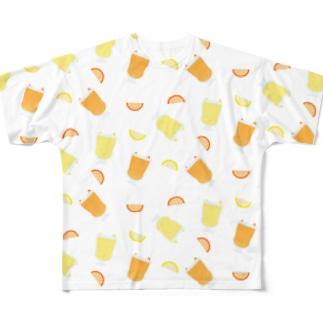 ジューシーパターン Full graphic T-shirts