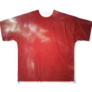 赤い空 Full graphic T-shirts