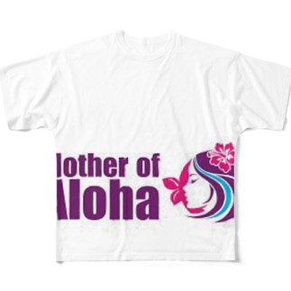Mother of Aloha wahine pink Full graphic T-shirts