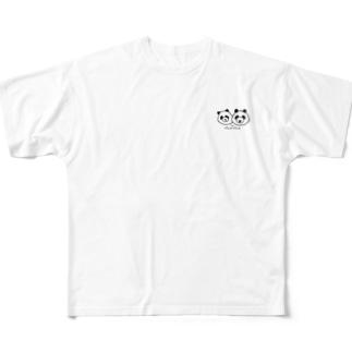 パンダパンダ All-Over Print T-Shirt
