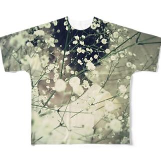 カスミソウとパーマ Full graphic T-shirts