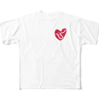 朝鮮半島の平和を祈ります Full graphic T-shirts