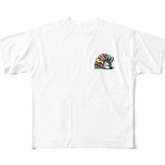 お座りfishing君 All-Over Print T-Shirt