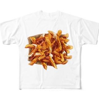 飯テロポテト Full graphic T-shirts