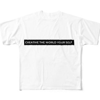 creative the world your self:(黒) Full Graphic T-Shirt