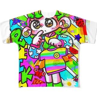 かねぴーレインボー Full graphic T-shirts