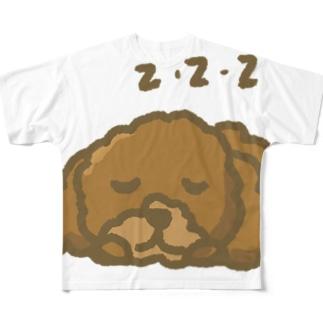 トイプードルzzz Full graphic T-shirts