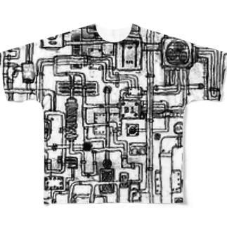 配管マニア Full graphic T-shirts