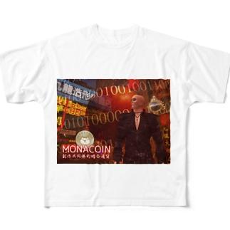 monacoin Full graphic T-shirts