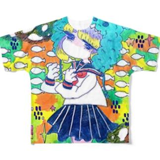 嘆き Full graphic T-shirts