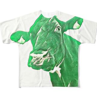 みどりうし Full graphic T-shirts