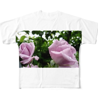 双子薔薇 All-Over Print T-Shirt