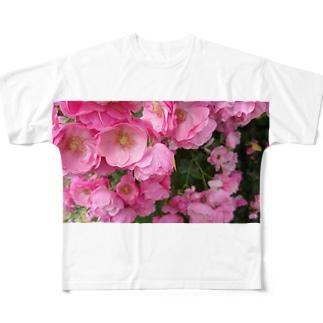 群集う桃薔薇。 All-Over Print T-Shirt