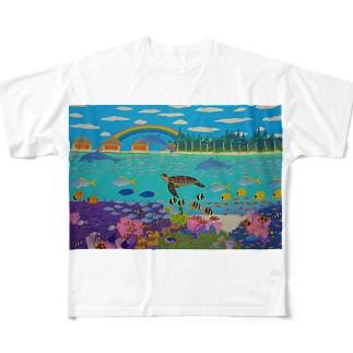 ニューカレドニアのサンゴ礁 Full graphic T-shirts