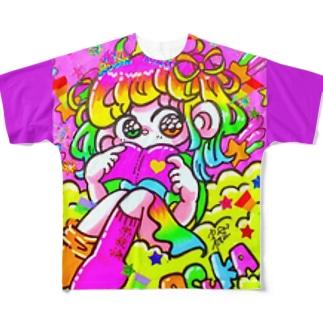 漫画の世界はキラキラ Full graphic T-shirts