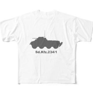 8輪装甲車 Sd.Kfz.234/1(グレー) Full Graphic T-Shirt