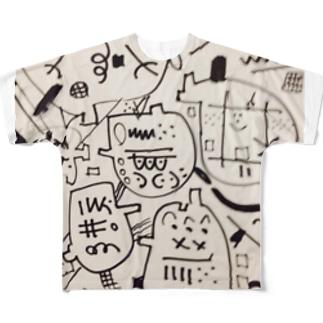 安寧秩序&フルメタル宇宙人🌟💎🌟 Full graphic T-shirts