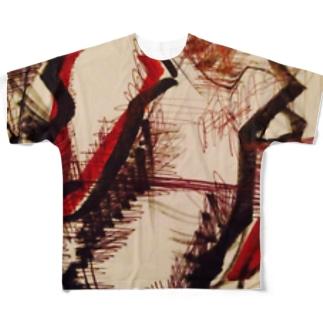 秋の栗拾い&Canadaのバス停留所🌟🔥🌰🍀🌟 Full graphic T-shirts