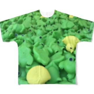 カエルちゃん Full graphic T-shirts