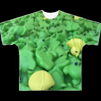 eicimのカエルちゃん Full graphic T-shirts